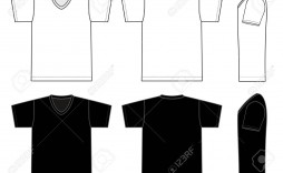 002 Incredible T Shirt Template Vector Sample  Black Front And Back Free Download Illustrator