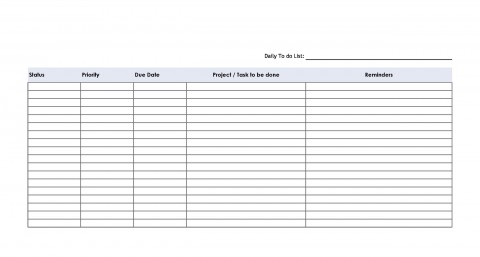 002 Incredible Task List Template Word Concept  Work Employee480