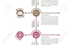 002 Incredible Vertical Timeline Template For Word High Def  Blank