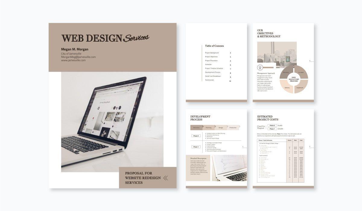 002 Incredible Web Design Proposal Template Free Download High Def Full