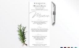 002 Incredible Wedding Menu Card Template Word Example