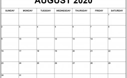 002 Magnificent 2020 Blank Calendar Template Example  Printable Monthly Word Downloadable With Holiday