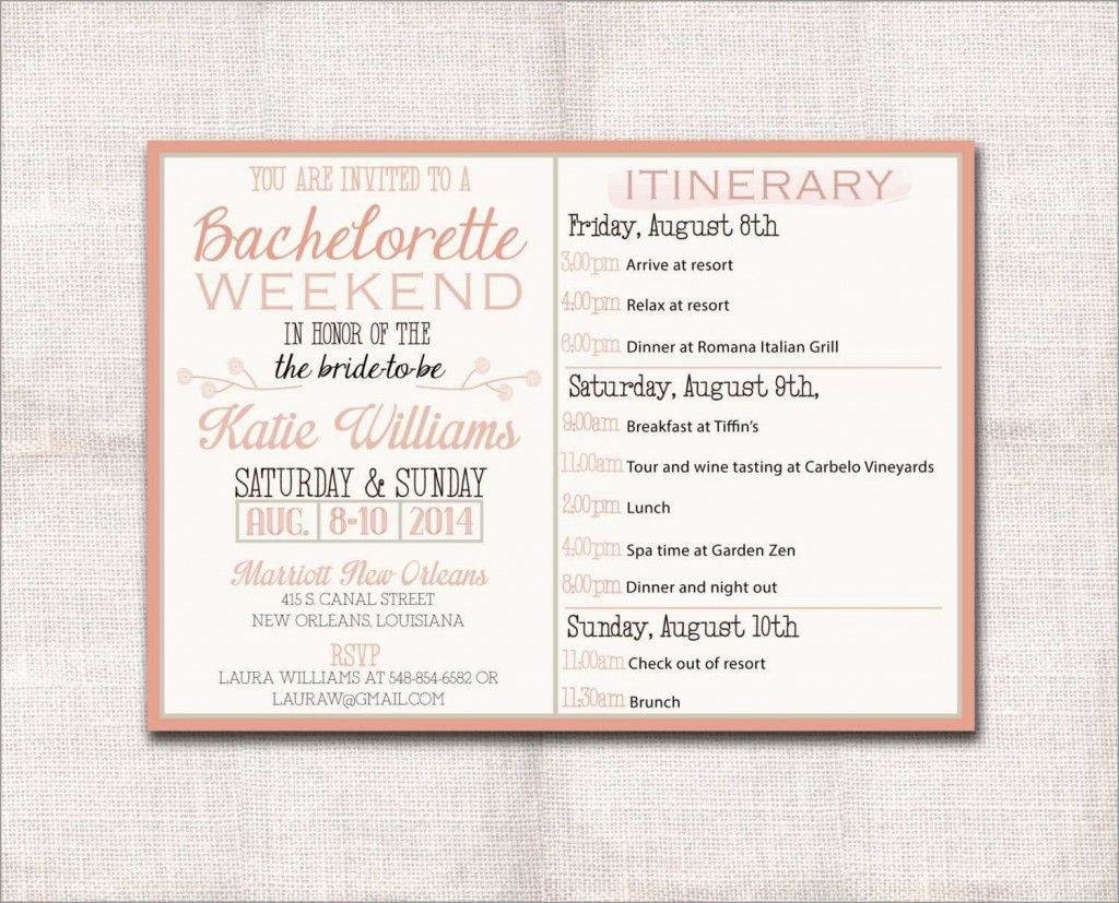 002 Magnificent Bachelorette Party Itinerary Template Free Picture  DownloadLarge