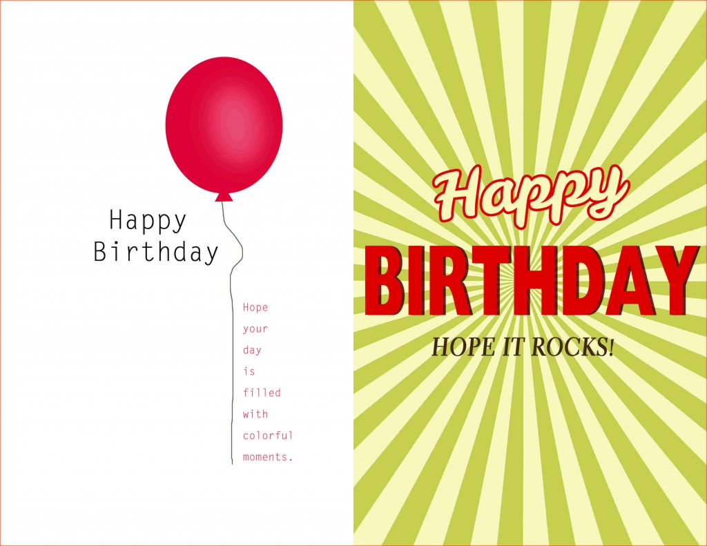002 Magnificent Birthday Card Template Word Quarter Fold Picture Large