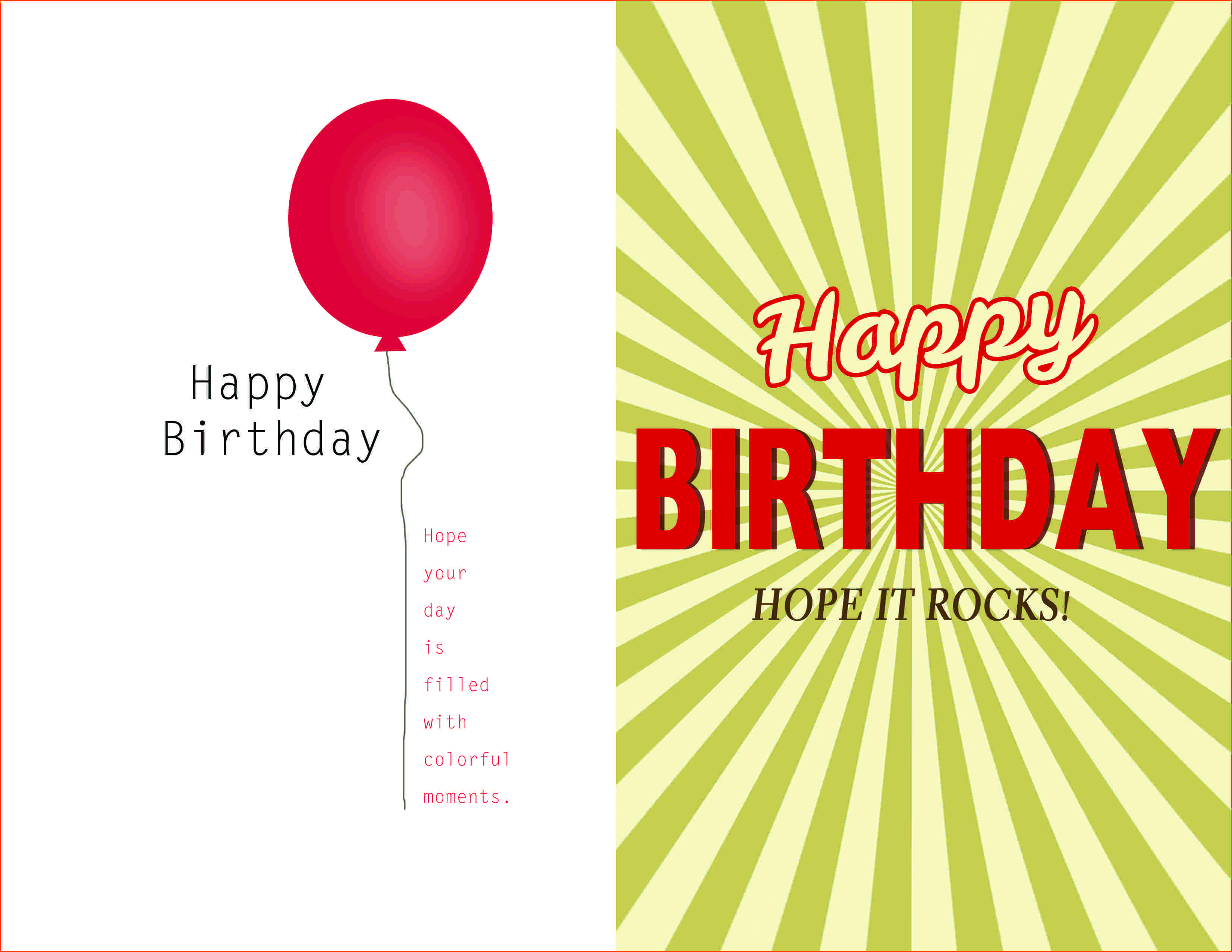 002 Magnificent Birthday Card Template Word Quarter Fold Picture Full