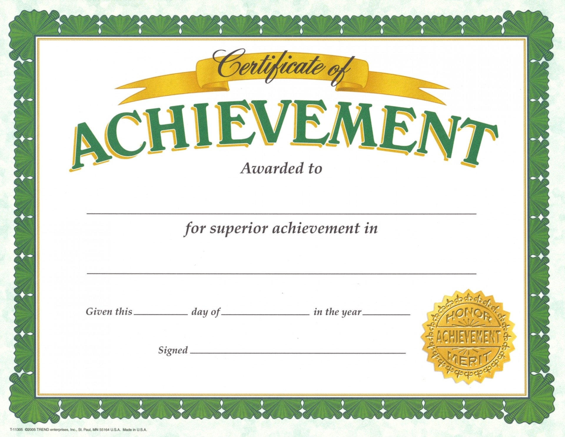 002 Magnificent Certificate Of Achievement Template Free High Definition  Award Download Word1920