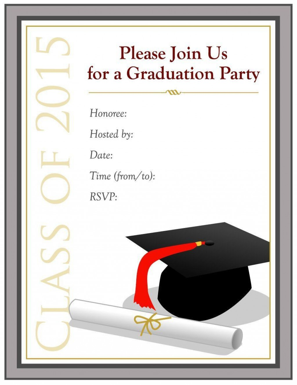 002 Magnificent Diy Graduation Announcement Template Free High Definition  InvitationLarge
