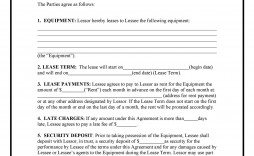 002 Magnificent Equipment Lease Contract Template Free Idea  Agreement Word
