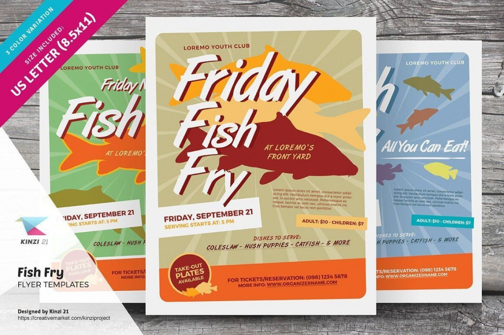 002 Magnificent Fish Fry Flyer Template Idea  Printable Free Powerpoint PsdLarge