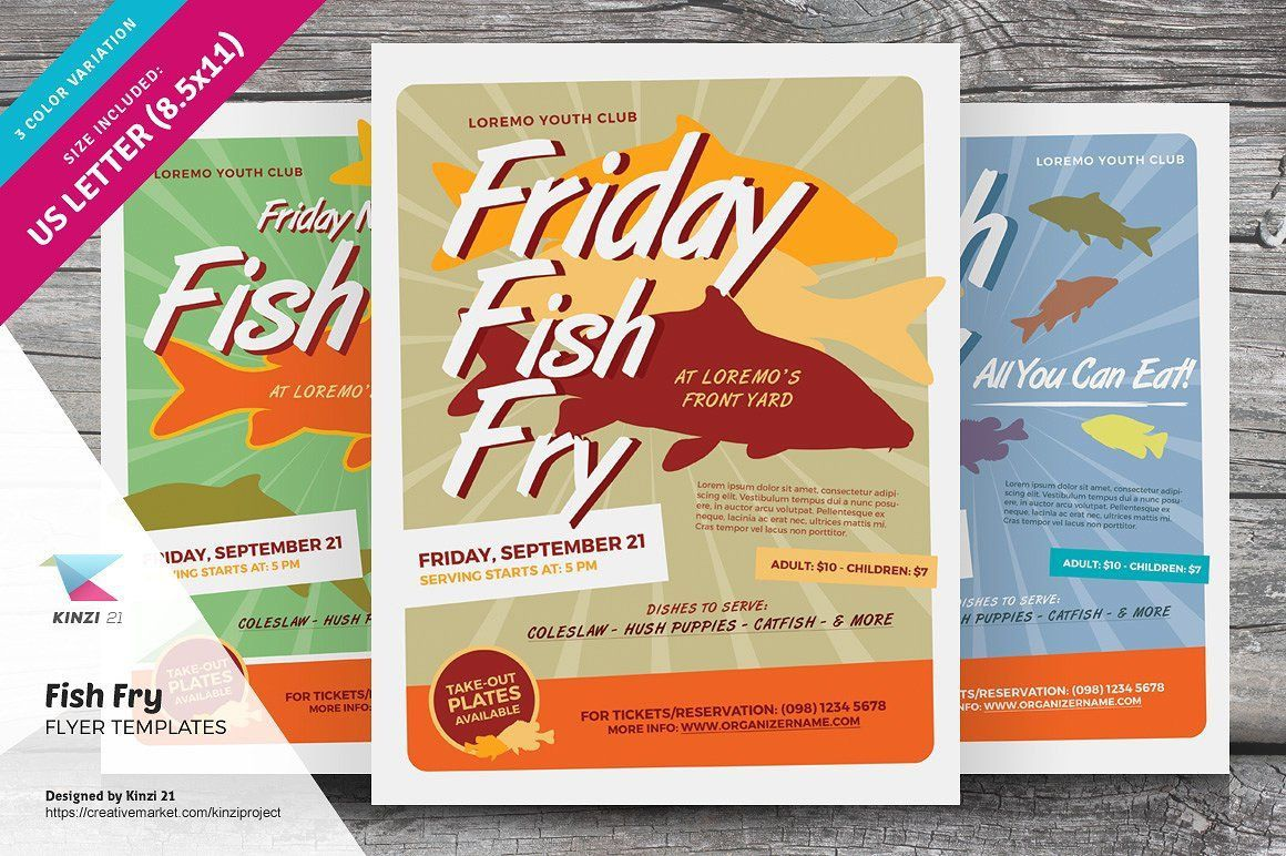 002 Magnificent Fish Fry Flyer Template Idea  Printable Free Powerpoint PsdFull