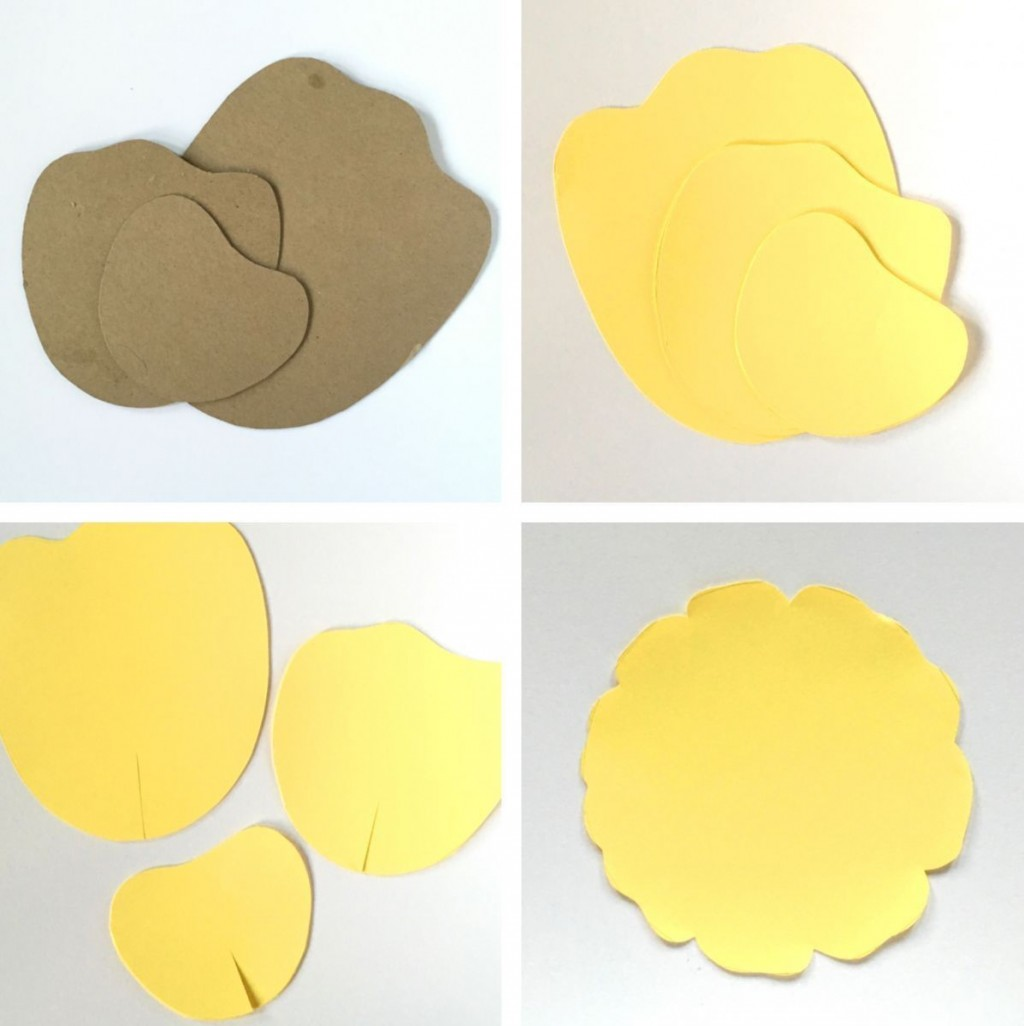 002 Magnificent Free Printable Diy Paper Flower Template Picture  TemplatesLarge