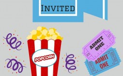 002 Magnificent Free Printable Movie Ticket Birthday Party Invitation Highest Quality  Invitations