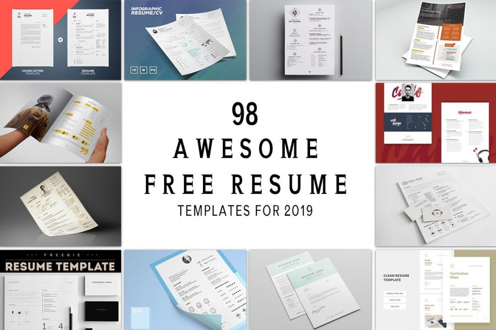 002 Magnificent Free Printable Resume Template 2019 Image Large