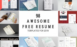 002 Magnificent Free Printable Resume Template 2019 Image