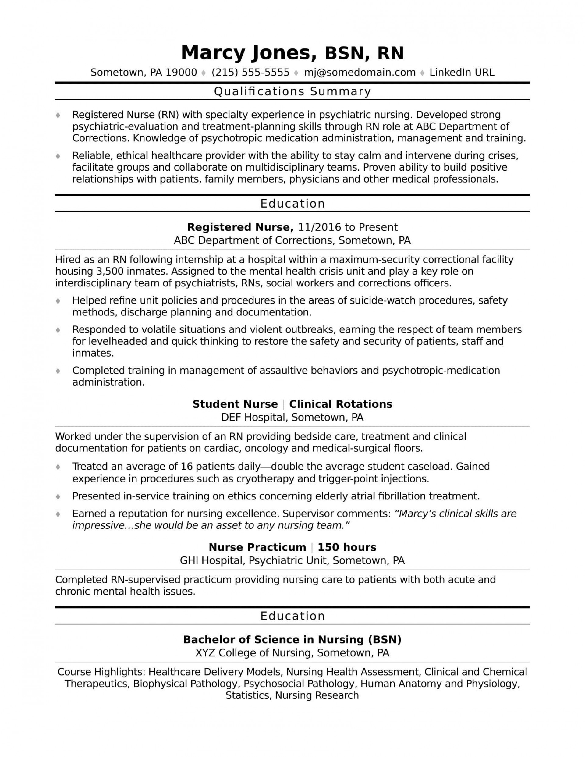 002 Magnificent Free Student Nurse Resume Template Example  Templates1920