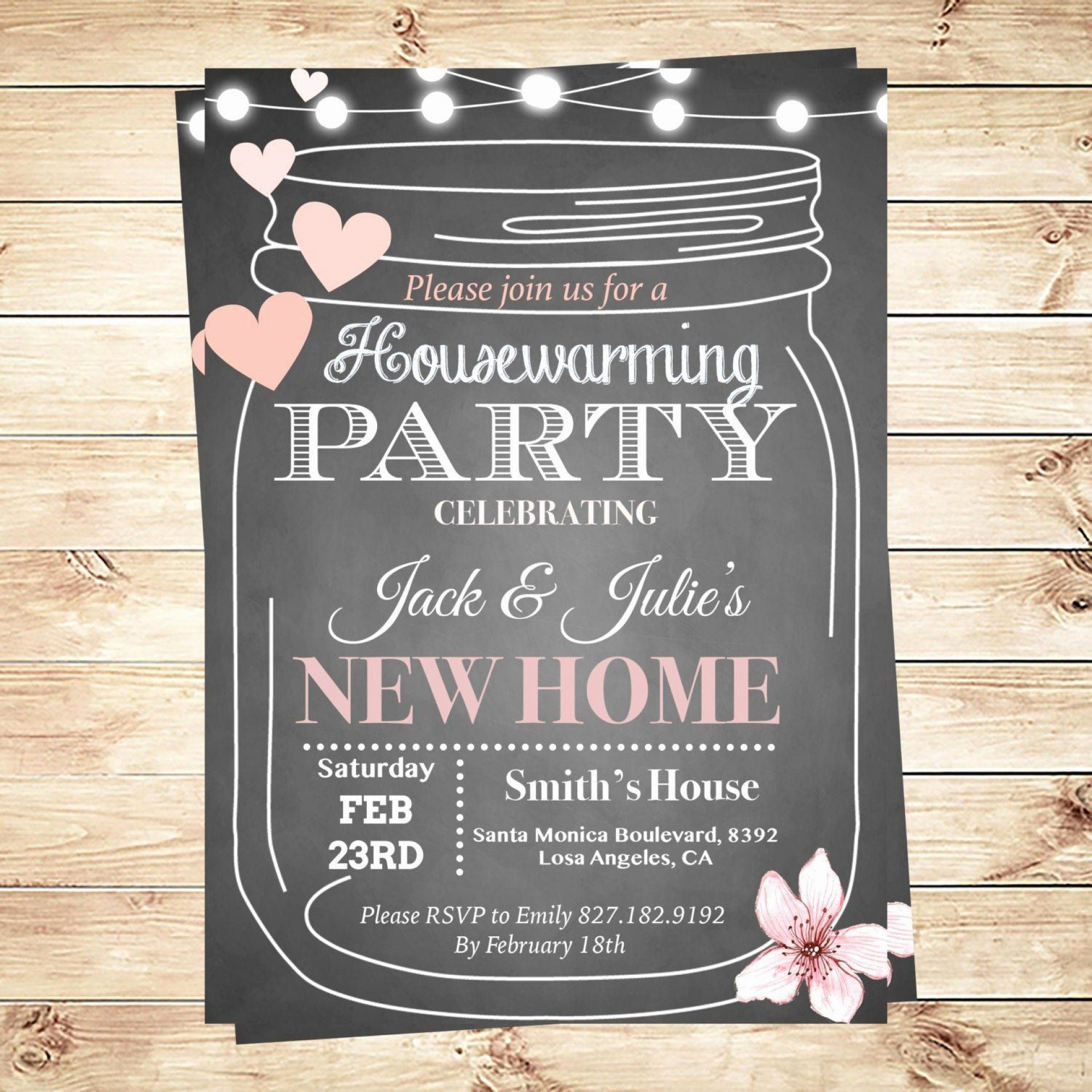 002 Magnificent Housewarming Party Invitation Template Design  Templates Free Download Card1920