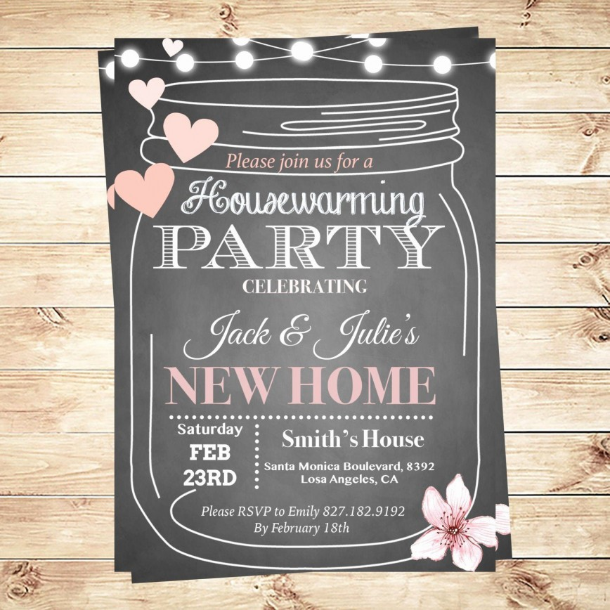 002 Magnificent Housewarming Party Invitation Template Design  Templates Card Format Word Editable