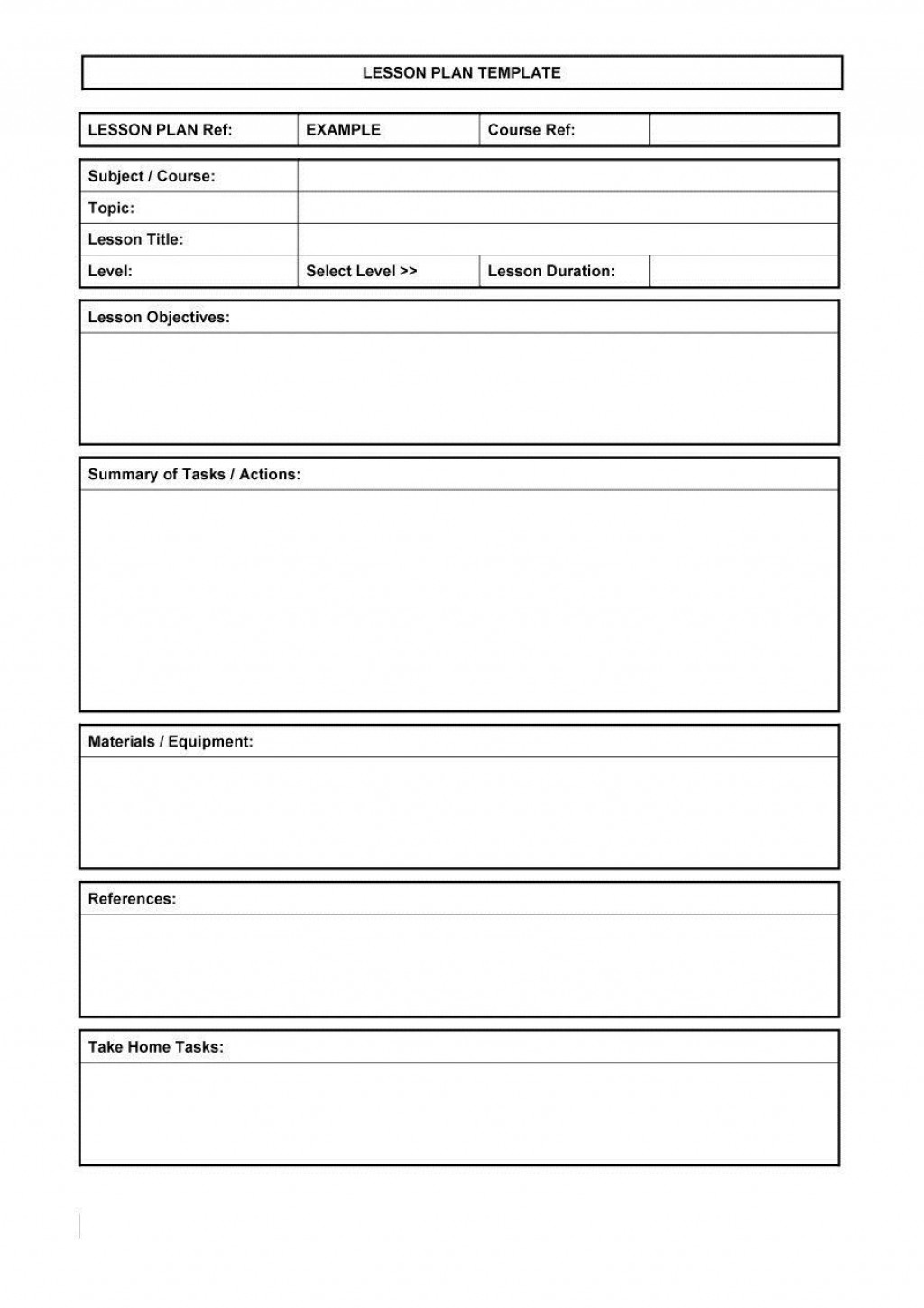 002 Magnificent Lesson Plan Template Excel Free Highest Quality Large