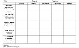 002 Magnificent Lesson Plan Template Preschool Sample  Free Week