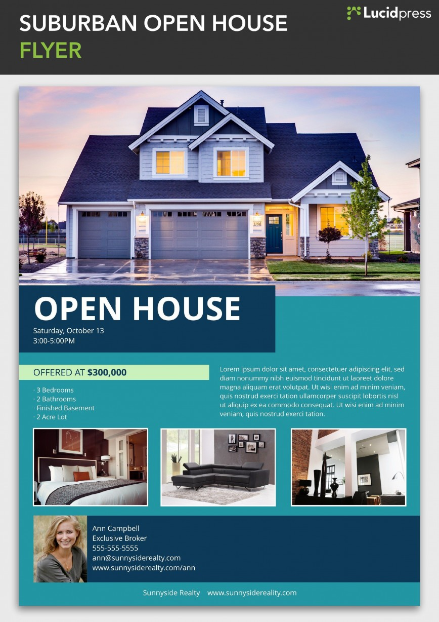 002 Magnificent Open House Flyer Template High Def  Word Free School Microsoft868