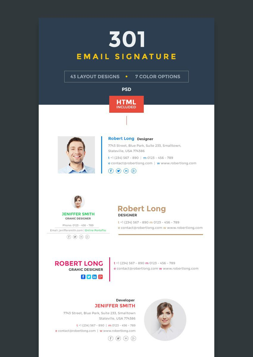 002 Magnificent Outlook Email Signature Template Example  ExamplesFull