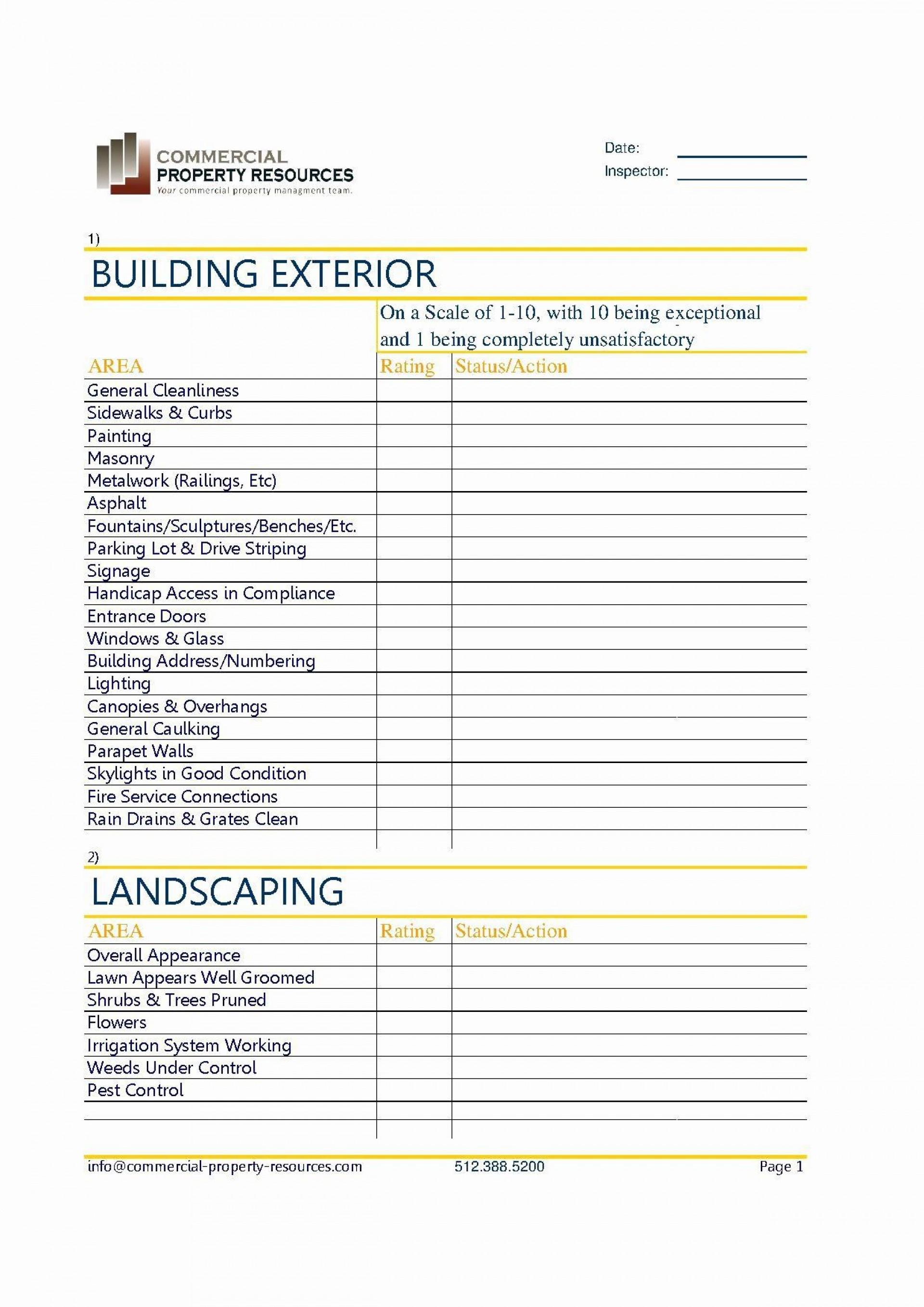 002 Magnificent Property Management Maintenance Checklist Template Image  Free1920
