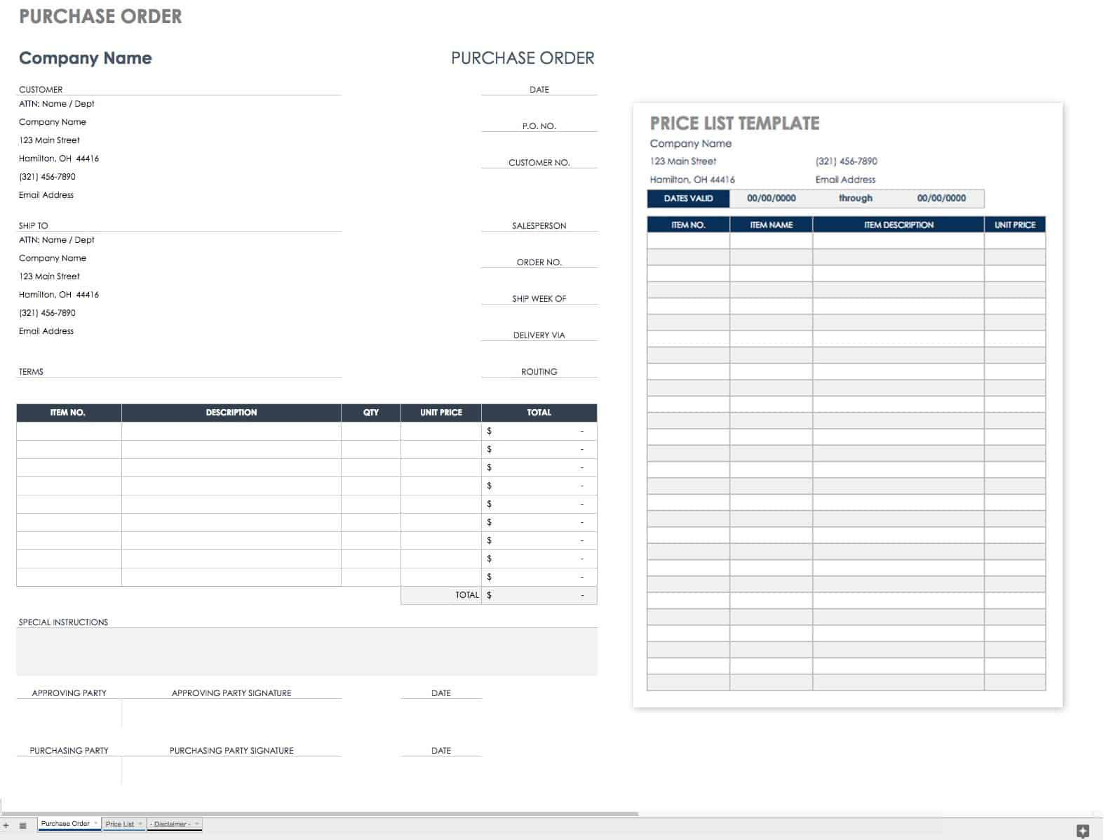 002 Magnificent Purchase Order Form Template Example  Templates Free Sample Download OnlineFull