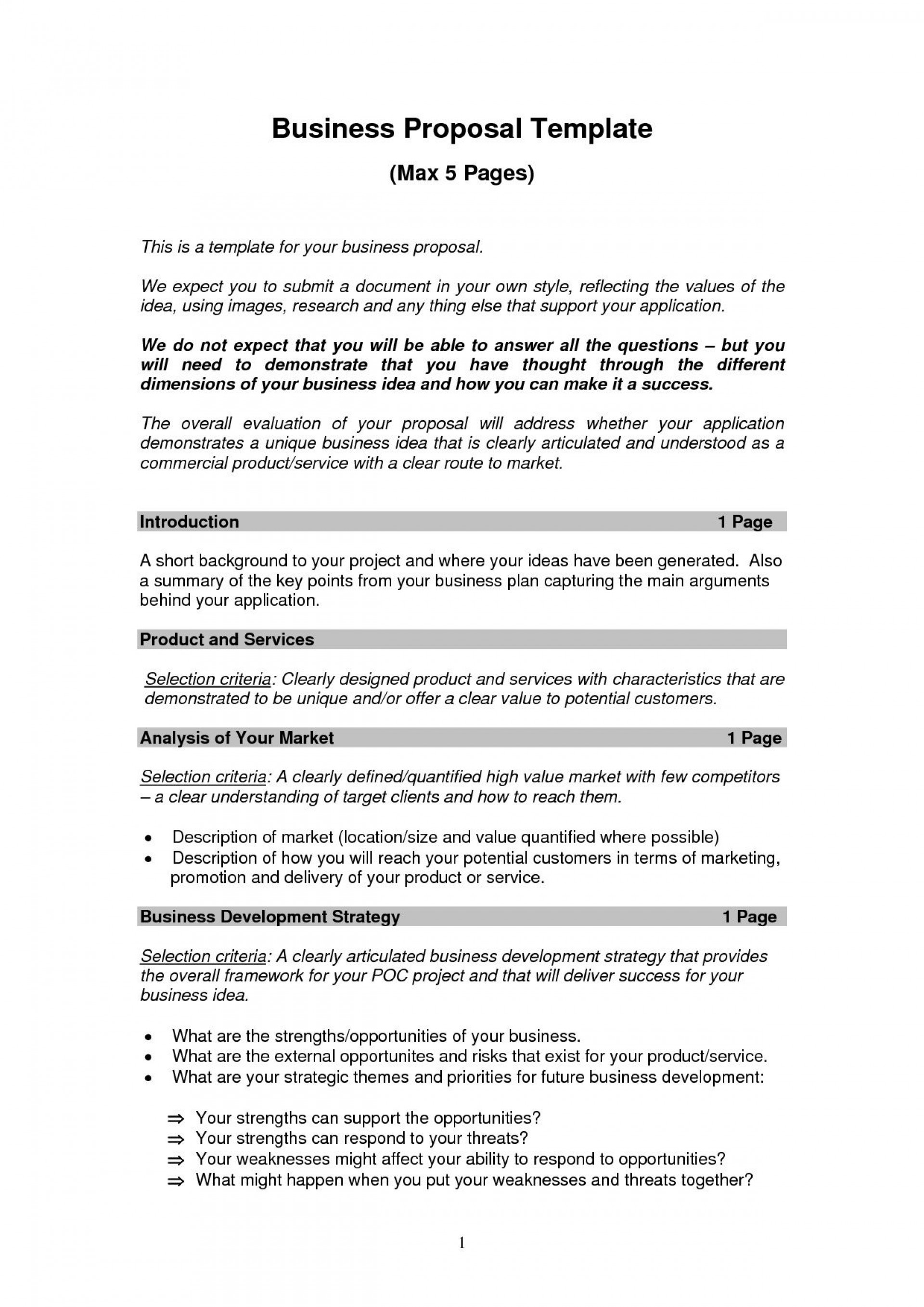 Business Plan Example Pdf