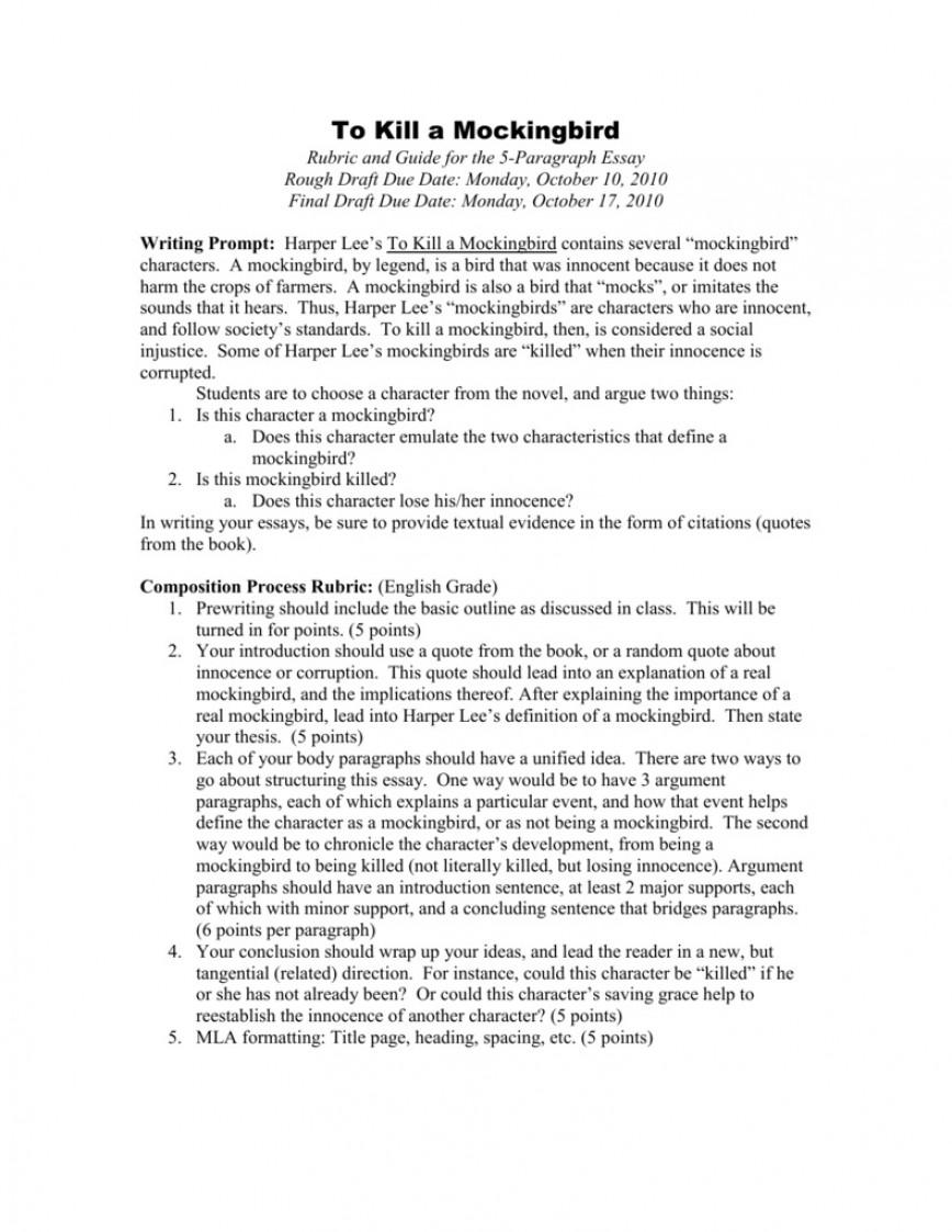 002 Magnificent To Kill A Mockingbird Essay High Definition  Prejudice Thesi Topic