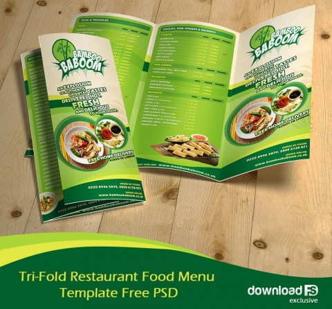 002 Magnificent Tri Fold Menu Template Free Design  Wedding Tri-fold Restaurant Food Psd Brochure Cafe Download480