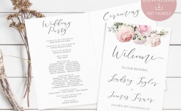 002 Magnificent Wedding Order Of Service Template Pdf Highest Quality