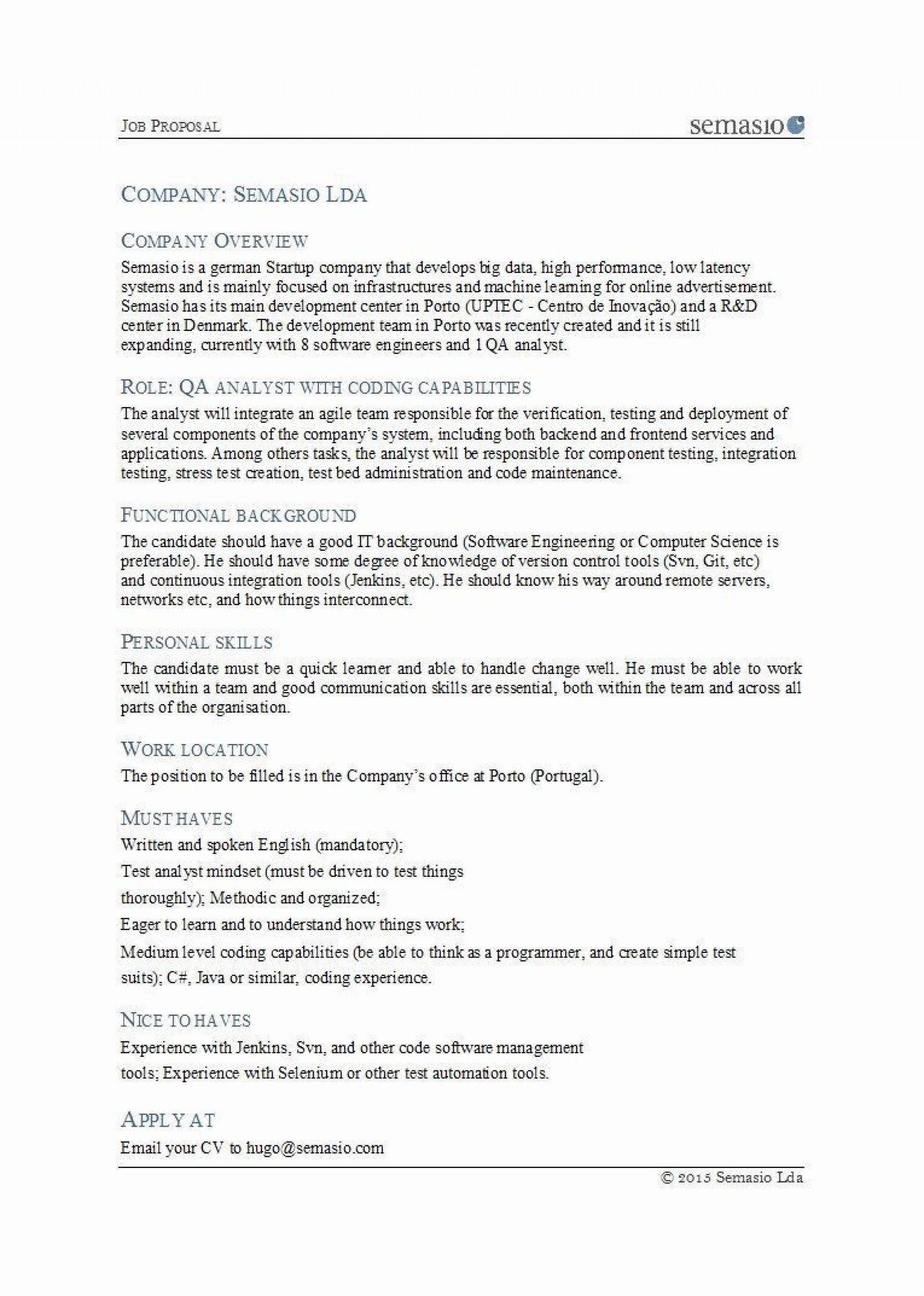 002 Magnificent Writing A Job Proposal Template Sample High Def Full