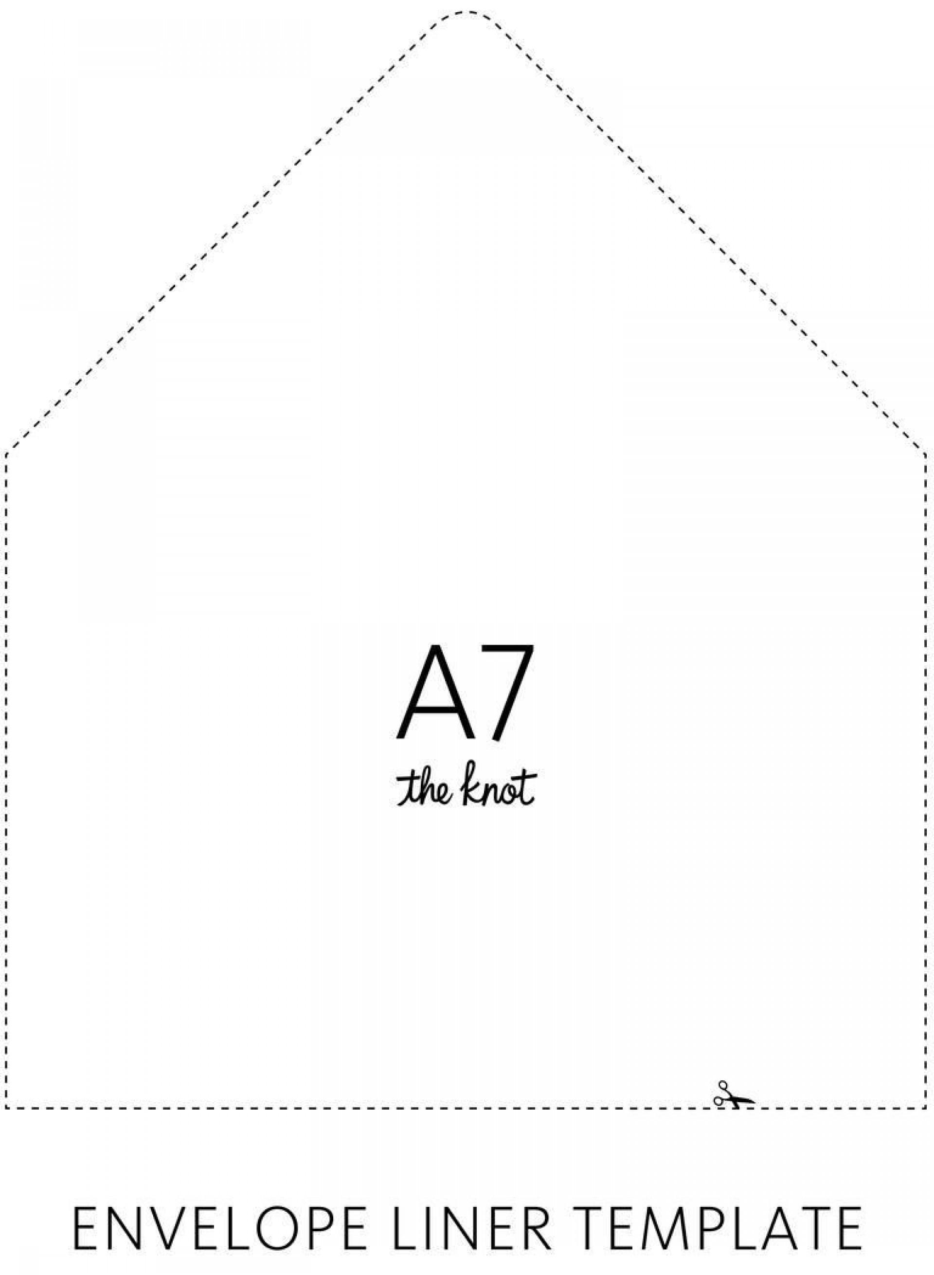 002 Marvelou A7 Envelope Liner Template Square Flap Inspiration 1920