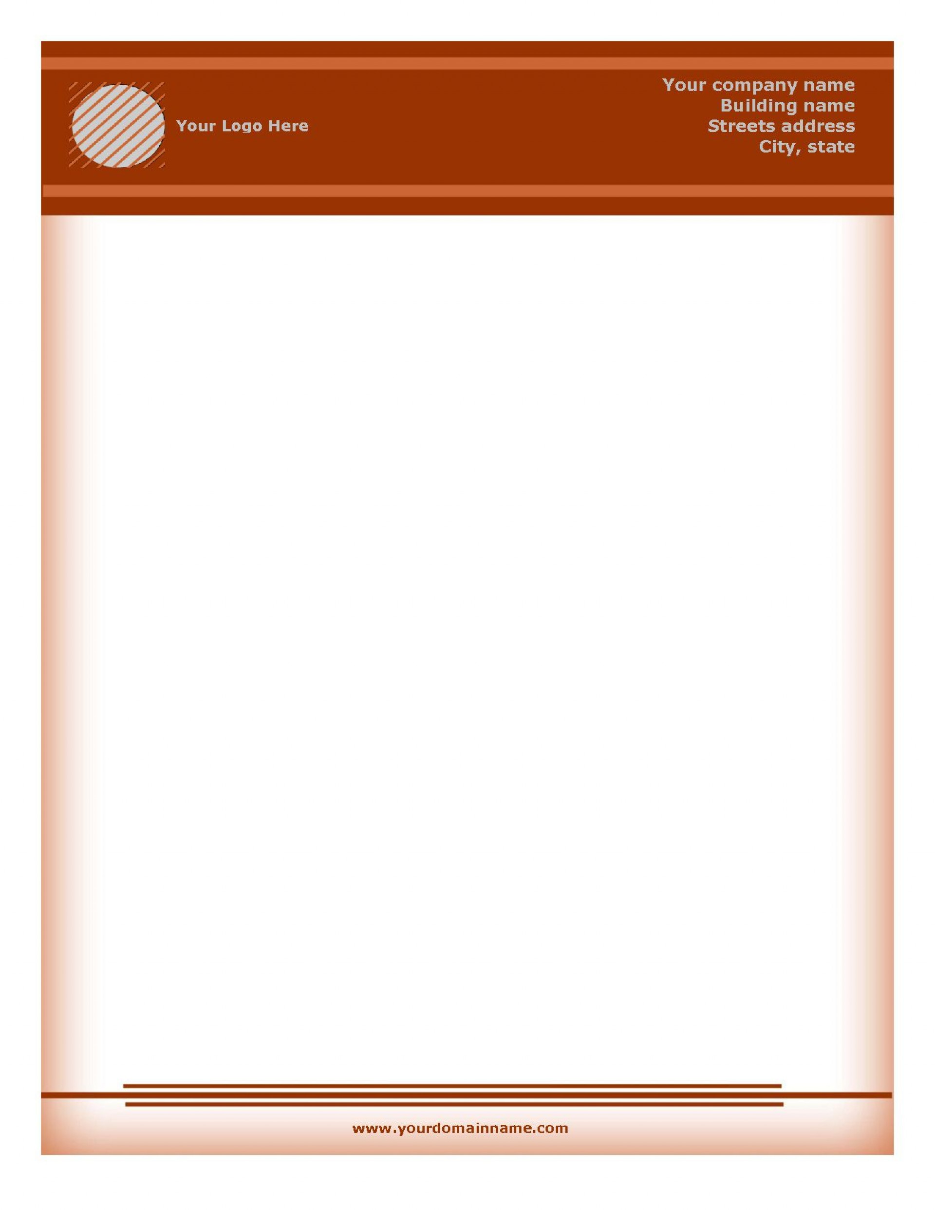 002 Marvelou Free Letterhead Template Download High Definition  Word Psd Sample1920