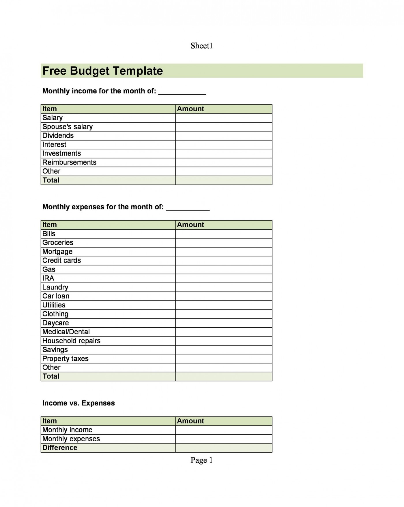 002 Marvelou Free Monthly Budget Template Download Inspiration  Excel Planner1400