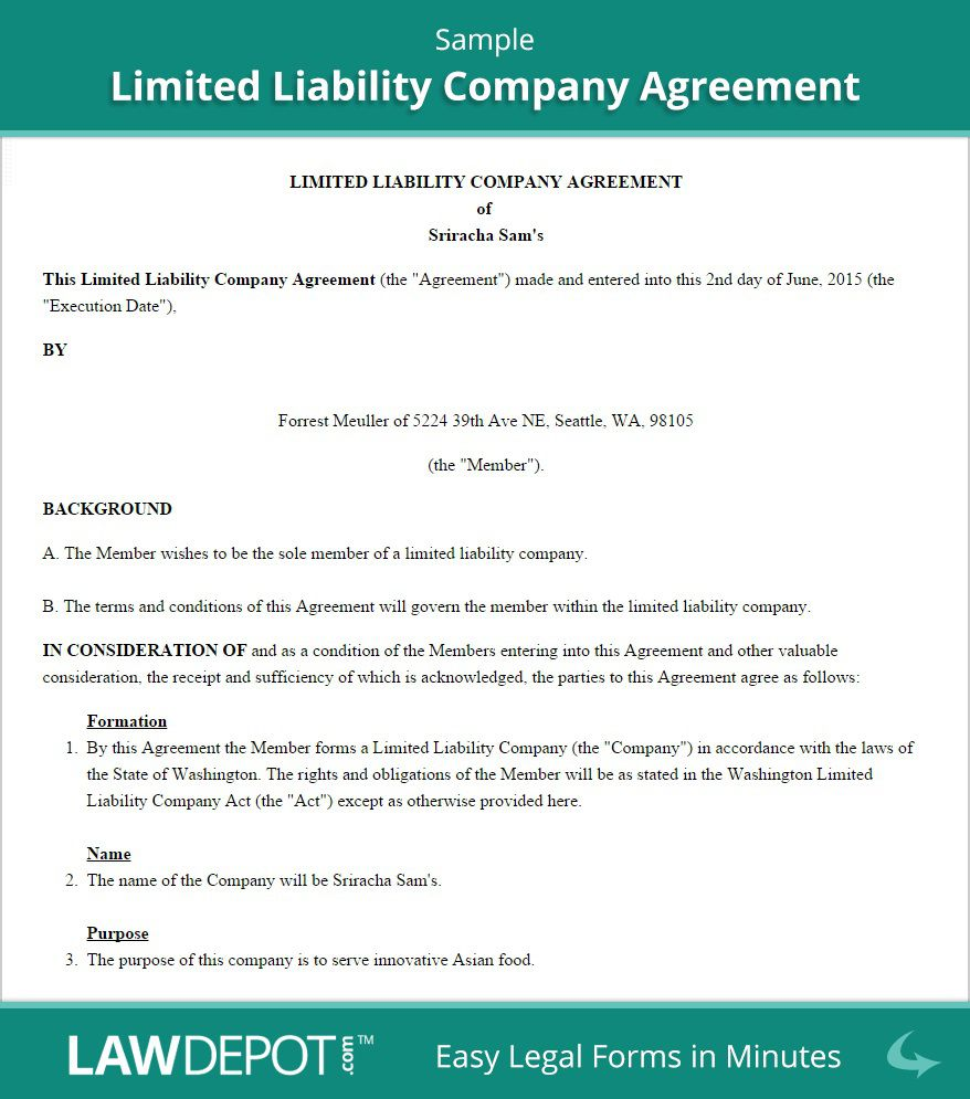 002 Marvelou Free Operating Agreement Template Picture  Pdf Missouri LlcFull
