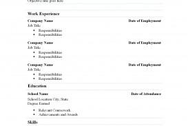 002 Marvelou Free Simple Resume Template Microsoft Word Idea