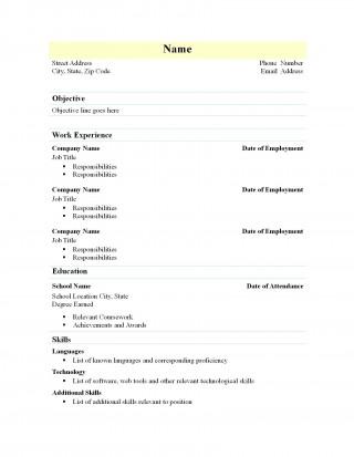 002 Marvelou Free Simple Resume Template Microsoft Word Idea 320