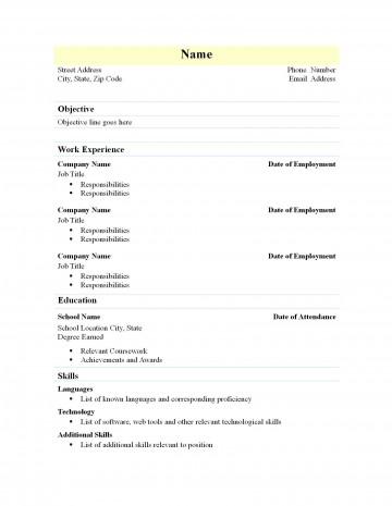 002 Marvelou Free Simple Resume Template Microsoft Word Idea 360