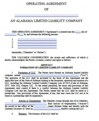 002 Marvelou Llc Partnership Agreement Template High Def  Free Operating320