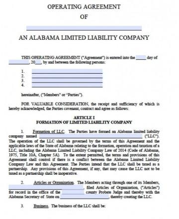 002 Marvelou Llc Partnership Agreement Template High Def  Free Operating360