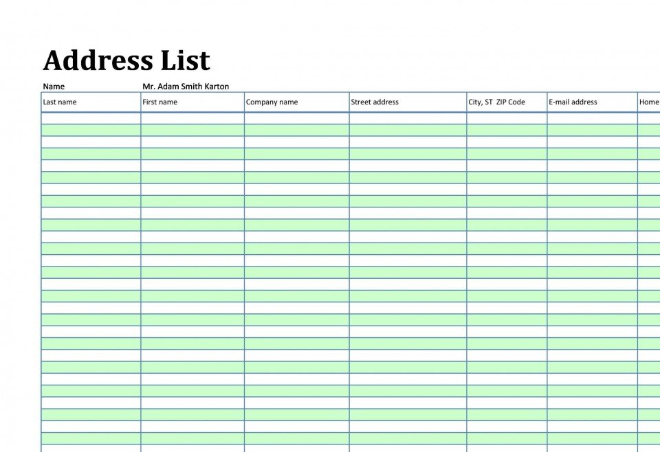 002 Marvelou Microsoft Excel Phone List Template Design  Contact Part960
