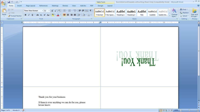 002 Marvelou Microsoft Word Greeting Card Template Highest Clarity  Birthday Blank Free 2007Full
