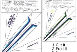 002 Marvelou Printable Paper Airplane Pattern High Def  Free Plane Design Designs-printable Template