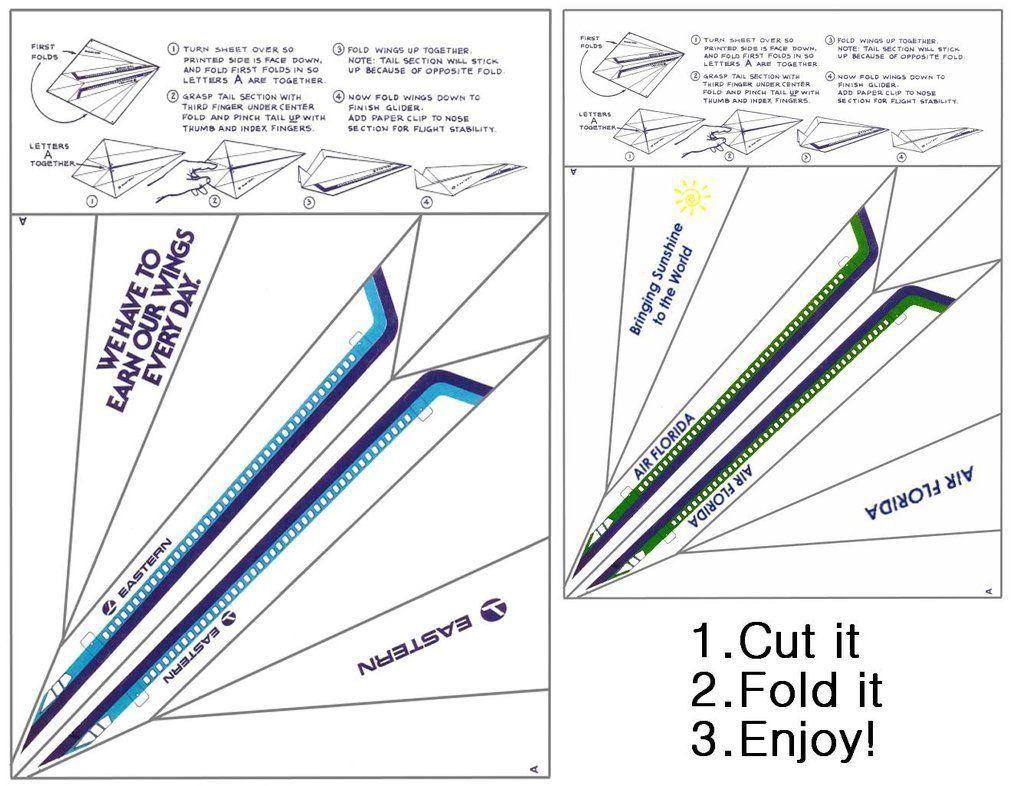 002 Marvelou Printable Paper Airplane Pattern High Def  Free Plane Design Designs-printable TemplateFull