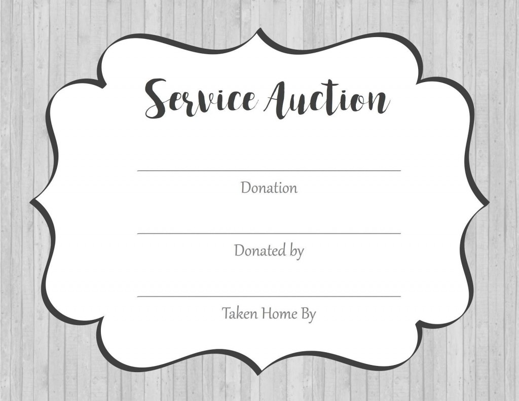 002 Marvelou Silent Auction Donation Certificate Template High Def Large