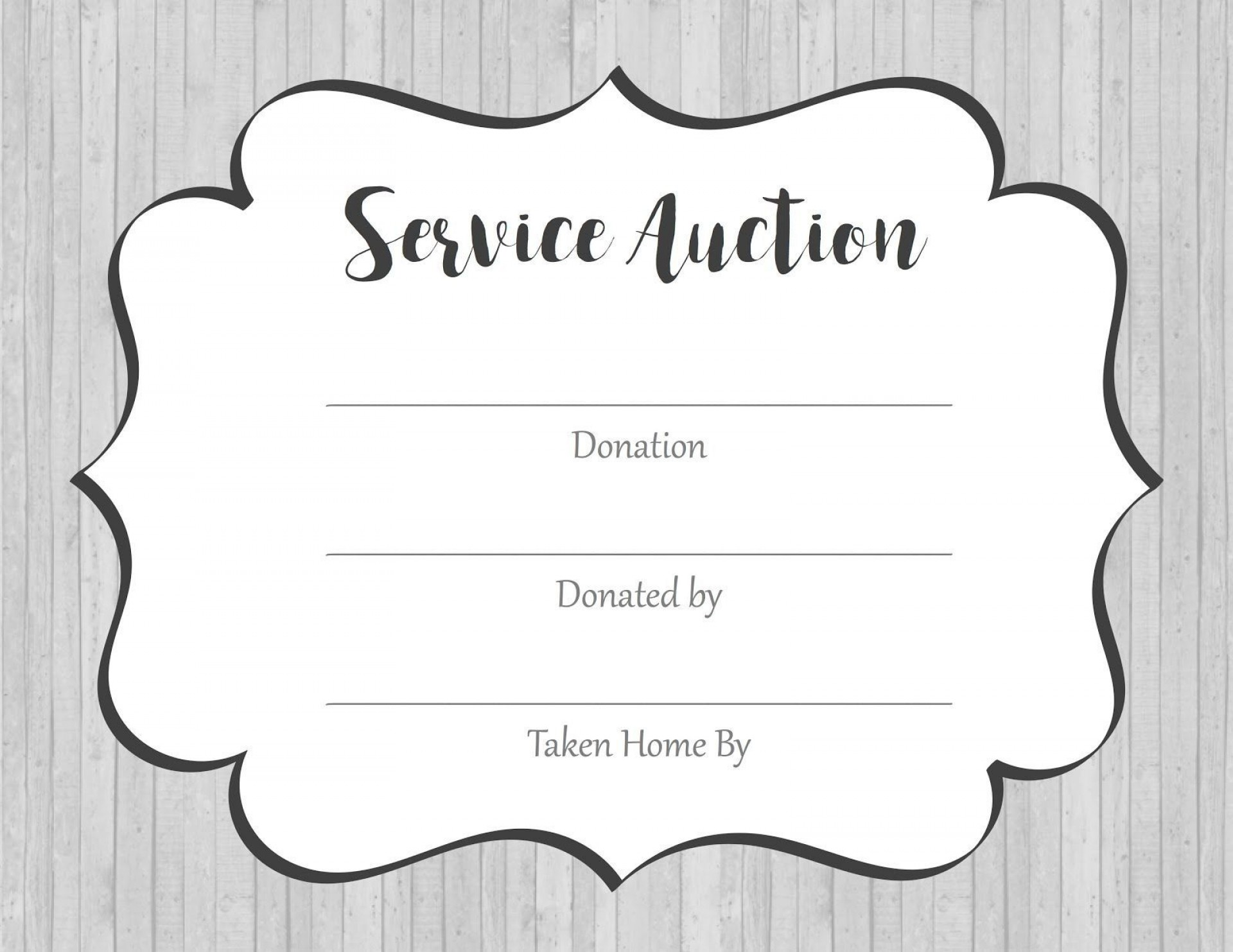 002 Marvelou Silent Auction Donation Certificate Template High Def 1920
