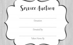 002 Marvelou Silent Auction Donation Certificate Template High Def