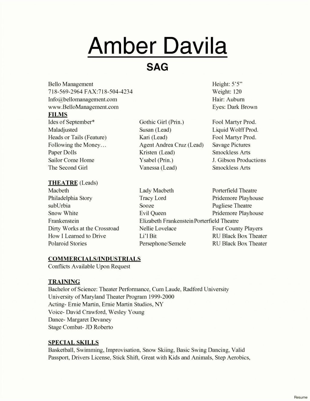 002 Marvelou Technical Theatre Resume Template Design  Google Doc TechLarge