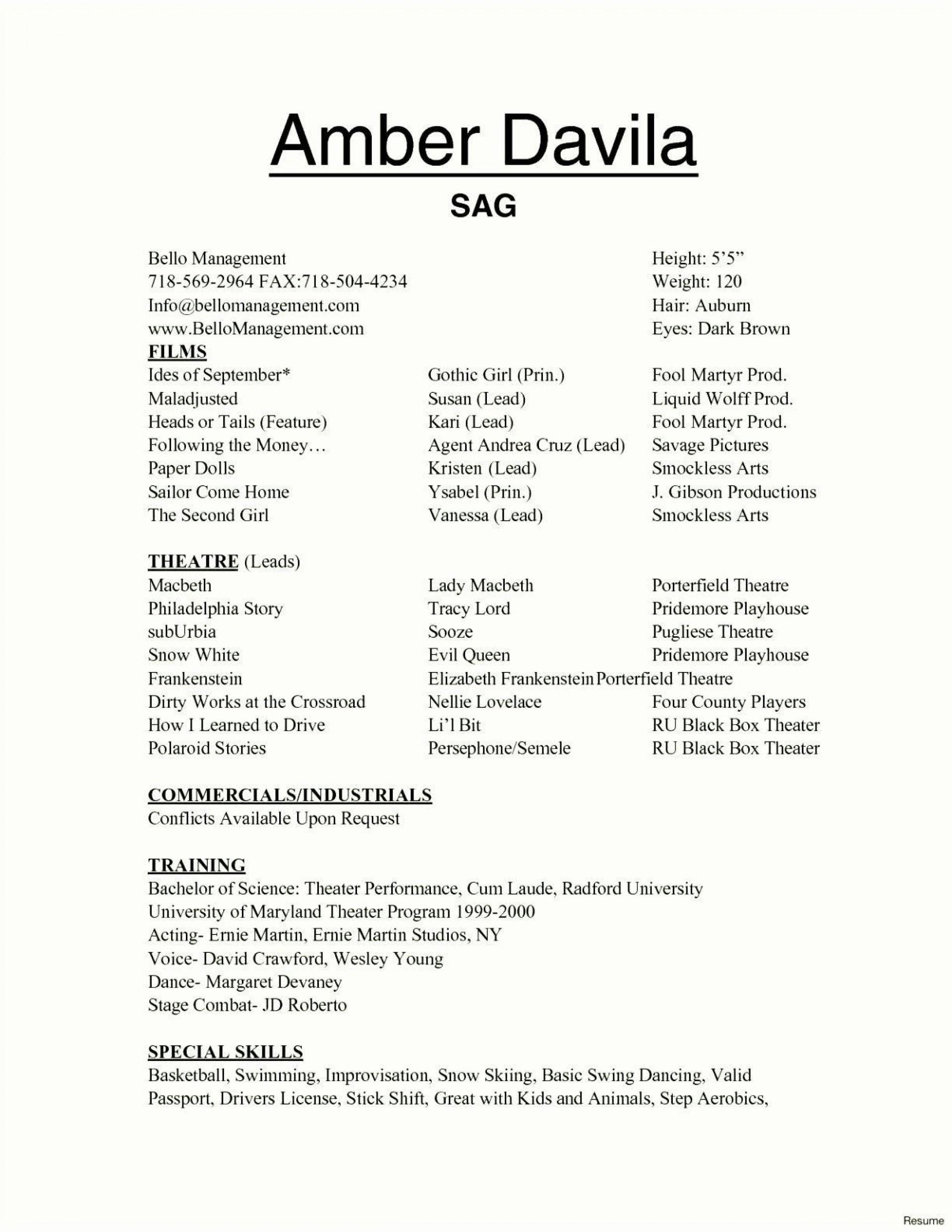 002 Marvelou Technical Theatre Resume Template Design  Google Doc Tech1920